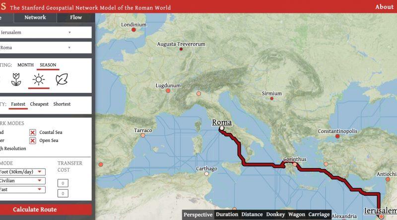 Ученые из Стэнфорда разработали онлайн-карту Римской империи