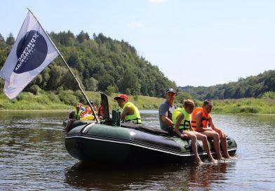Украинская церковь организовала сплав по реке для отцов и детей (фото)